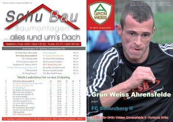 Nr.5 / 2010 - SV Grün-Weiss Ahrensfelde