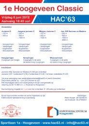 1e Hoogeveen Classic Convocatie - Hac '63