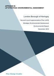 (SEA) Environmental Report - Haringey Council