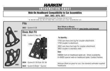 Web-On Headboard Compatibility to Car Assemblies4683 - Harken