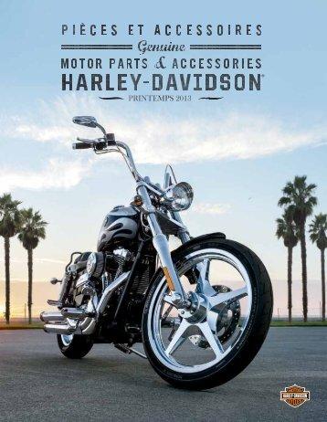 Consultez le nouveau catalogue P&A du printemps - Harley-Davidson