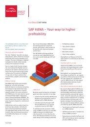 SAP HANA – Your way to higher profitability - BearingPoint