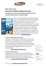 Zwischen Nordkap und Mount Everest - Bock Schröder PR