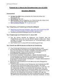 Protokoll der SER- Sitzung vom 10. März 2010 - Die Grundschule ...