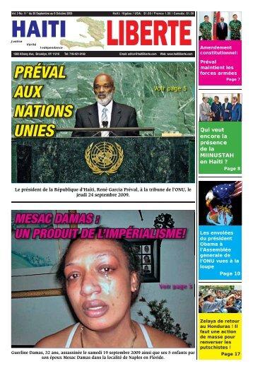 PRÉVAL AUX NATIONS UNIES - Haiti Liberte