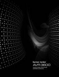 AVR 3600 OM.qxd - Harman Kardon