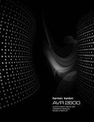 AVR 2600 - Harman Kardon