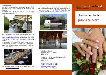 Hochzeiten in den - Grün Berlin