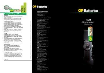 NiMH Rechargeable Batteries - GP Batteries