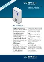 RPS Endurance. Bonfiglioli worldwide network. Das weltweite ...