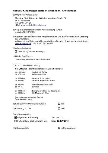Bekanntmachungstext für internet - Stadt Griesheim