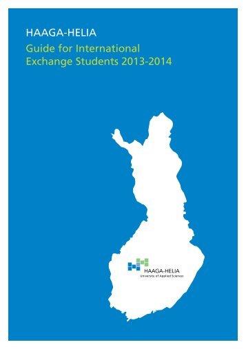 HAAGA-HELIA Guide for International Exchange Students 2013-2014