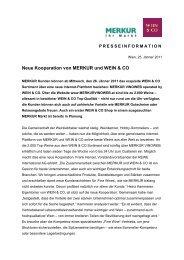 Neue Kooperation von MERKUR und WEIN & CO