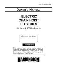 Owners Manual - Harrington Hoists and Cranes