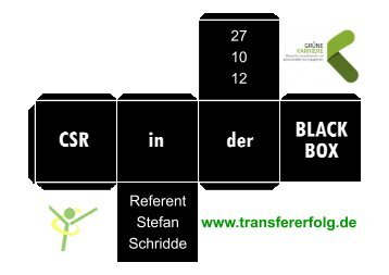 CSR in der Black Box
