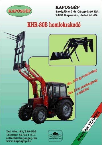KHR-80E homlokrakodó - Hanki-Ker Kft.