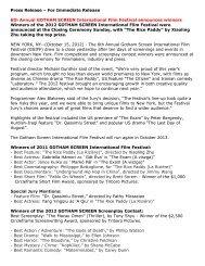 Read the press release... - Gotham Screen International Film Festival