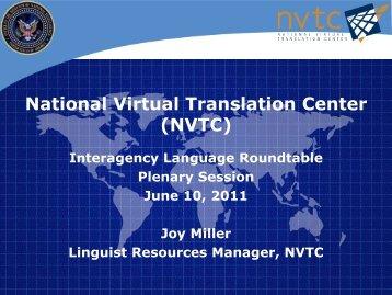 National Virtual Translation Center (NVTC) - ILR