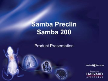 Samba Preclin Samba 200 - Harvard Apparatus