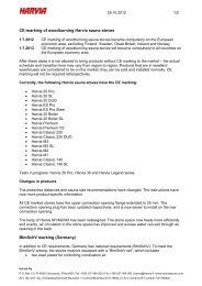 CE-marking of woodburning Harvia sauna stoves BImSchV marking ...