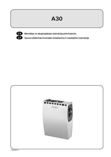 Montāžas un ekspluatācijas instrukcija pirts krāsnīm ... - Harvia