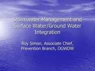Stormwater Management and UIC/SWP Integration - Groundwater ...