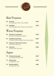 Kalte Vorspeisen Warme Vorspeisen Suppen - Hamm-Mitte.de