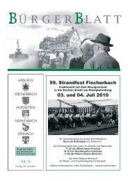 59. Strandfest Fischerbach 03. und 04. Juli 2010 - Haslach