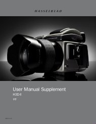 User Manual Supplement - Hasselblad
