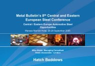 Presentation: Central/Eastern Europe Automotive Steel ... - Hatch