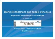 Presentation: World steel demand and supply dynamics ... - Hatch