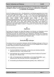 Satzung über die Erhebung von Kostenersatz, Gebühren und ...