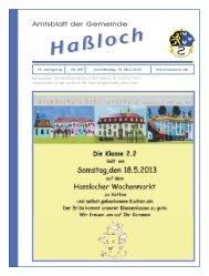 23. Mai 2013 - Gemeinde Haßloch