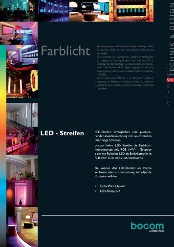 LED-Streifen - bocom Lichttechnik • Energiespar-Technologien GmbH