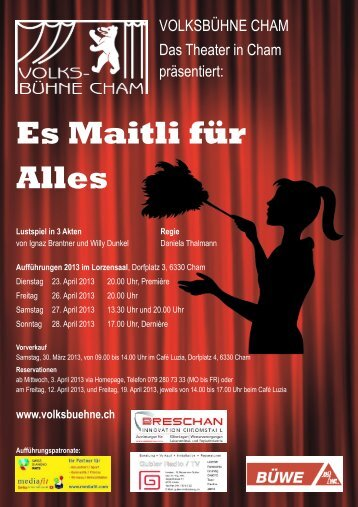 VOLKSBÜHNE CHAM Das Theater in Cham präsentiert: - guidle