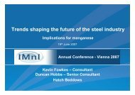Presentation: Trends shaping the future of the steel industry ... - Hatch