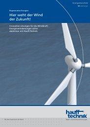 Broschüre Kompetenzfeld Windenergie - Hauff-Technik