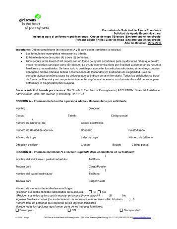 Formulario de Solicitud de Ayuda Económica Solicitud de Ayuda ...