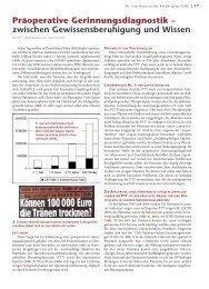 Präoperative Gerinnungsdiagnostik – zwischen ... - Hauner Journal