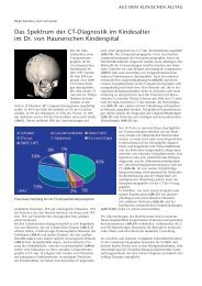 Das Spektrum der CT-Diagnostik im Kindesalter im ... - Hauner Journal