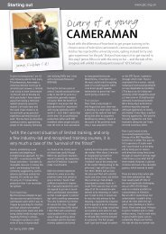 Diary of a young - The Guild of Television Cameramen