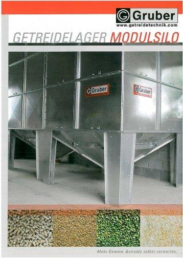 Modulsilos (mit Trichter) - Gruber Maschinen GmbH