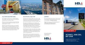SCHneLL anS ZIeL MIt DIVa - Hamburg Port Authority