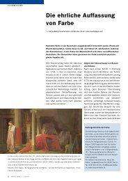 Die ehrliche Auffassung von Farbe, Applica 7/2009 - Haus der Farbe