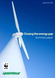 Closing the energy gap - summary paper - WWF UK