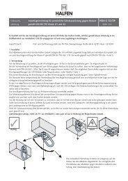 Anschlageinrichtung für persönliche Schutzausrüstung ... - halfen