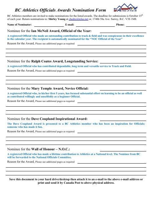 BCA Officials Awards Nomination Form.pdf - Kamloops Track & Field