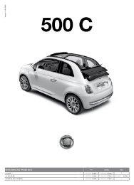VERSIONEN UND PREISE 500 c - Hammer Auto Center AG