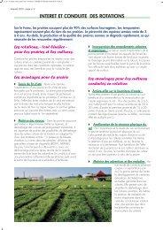 Intérêt et conduite des rotations - Chambre d'Agriculture de la Haute ...