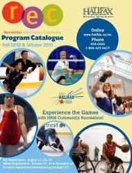 Program Catalogue - Halifax Regional Municipality
